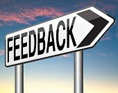 feedback or testimonials road sign. Leave publical comments for improvement and customer satisfactio