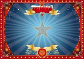 horizontal xmas background. A horizontal circus poster on the christmas theme for your screen... Enj