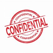 Confidential rubber stamp isolated on white background vector