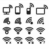 Vector set of wi-fi icons