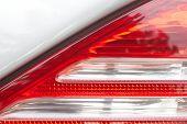 Close - up detail at car tail lamp