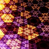Digital Abstract Fractal Hexagons 3D Plane