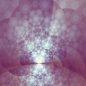 Abstract Artistic Bright Purple Glare Fractal
