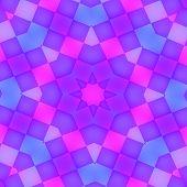 Abstract Purple Glowing Kaleidoscope Background