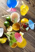 Cocktails, alcohol drink