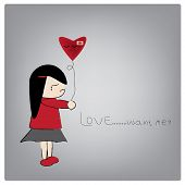 stock photo of love hurts  - Vector illustration love want me - JPG