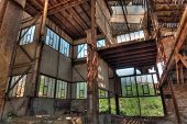 foto of ore lead  - Old abandoned mining factory unit processing lead - JPG