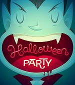 Vimpire mouth. Halloween poster \ background \ card. Vector illustration.