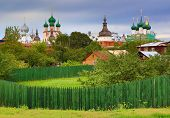 Rostov the Great - ancient small Russian town , part of Golden Ring of Russia