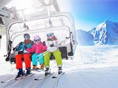 stock photo of ropeway  - Ski - JPG