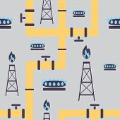 Seamless Pattern Gas Industry