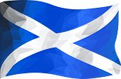 Abstract Image Of Scottish Flag