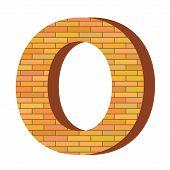 Brick Letter O