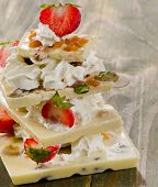 White Chocolate  Dessert With Berries