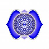 pic of kundalini  - Illustration of a blue brow chakra mandala - JPG