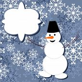 decor background with snowman