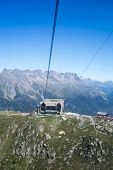CHAMONIX, FRANCE - SEPTEMBER 02: Aiguille du Midi cable car station. The cable car is the highest in