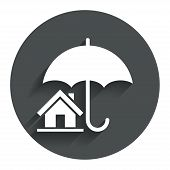 Home insurance sign icon. Real estate insurance.