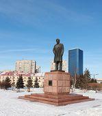 Monument Astafevu in Krasnoyarsk