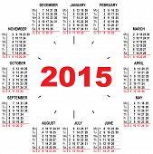 Office calendar 2015 hours