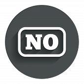 Norwegian language sign icon. NO translation