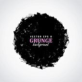 Abstract Black Circle Grunge Background