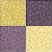 four seamless backgrounds with ice cream