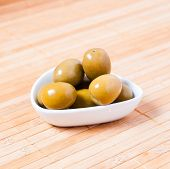 Olives In A White Bowl