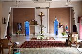 BASANTI, INDIA - JANUARY 17, 2009: Chapel in Little Flower Convent in Basanti, West Bengal, India. T
