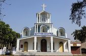 BASANTI, INDIA - FEBRUARY 13, 2014: The Catholic Church in Basanti, West Bengal, India. There are ov