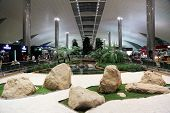 DUBAI - FEB 18: Recreation area in International airport on February 18, 2012 in Dubai, UAE. The air