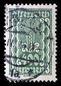 AUSTRIA - CIRCA 1921: stamp printed by Austria, shows ornament, circa 1921
