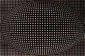spotted spherical black background