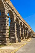 The Famous Ancient Aqueduct In Segovia, Spain