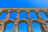 image of aqueduct  - The famous ancient aqueduct in Segovia Spain - JPG