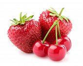 Strawberry With Cherry.
