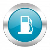 petrol internet blue icon