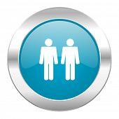 couple internet blue icon