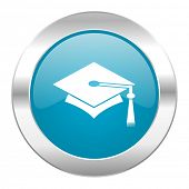 education internet blue icon