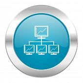network internet blue icon