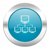 network internet blue icon