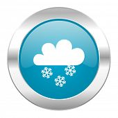 snowing internet blue icon