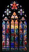 Stained-glass Window In St Vit Cathedral, Prague