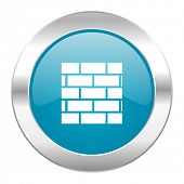 firewall internet blue icon