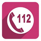 112 call flat icon