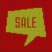 Colorful Knitted Sale Bubble