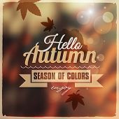 Creative graphic message for your autumn design.