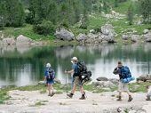 Hiking By The Lake, Triglav National Park, Slovenia poster