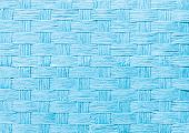 pic of aquamarine  - Aquamarine straw wicker basket close - JPG