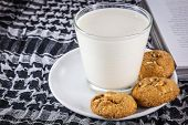 Milk, Cookie And Book